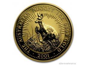 3806 investicni zlata mince australsky klokan 2001 nugget 1 oz