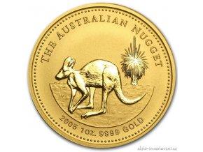 3815 investicni zlata mince australsky klokan 2005 nugget 1 oz