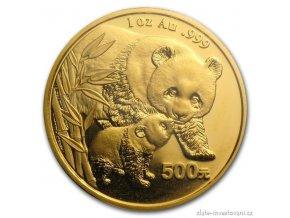 3818 investicni zlata mince cinska panda 2004 1 oz