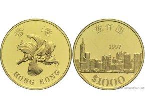 Investiční zlatá mince Honkong-1997 1/2 Oz