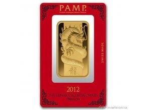 Investiční zlatý slitek rok Draka-PAMP 100g
