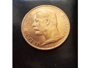 3872 zlata mince monacky stofrank albert ii