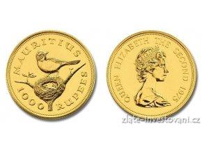3887 investicni zlata mince lejsek mauricius 1 oz