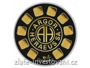 Investiční zlatý slitek Slunečnice-Argor Heraeus 10g