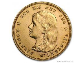 3974 zlata mince kralovna wilhelmina i 1897