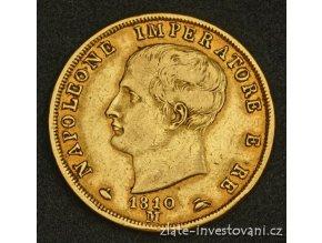 3980 zlata mince italska ctyricetilira napoleon 1804 1814