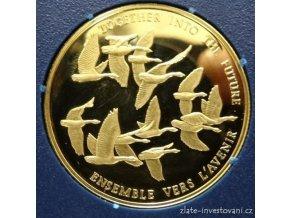 3989 zlata mince letici husy 1978 kanada 1 2 oz