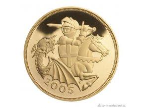 3992 investicni zlata mince britsky sovereign alzbeta ii 2005