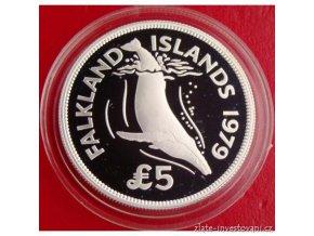 Stříbrná mince Plejtvák-Falklandy 1979 1 Oz
