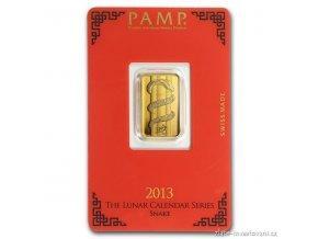 Investiční zlatý slitek PAMP-rok Hada 2013 5g