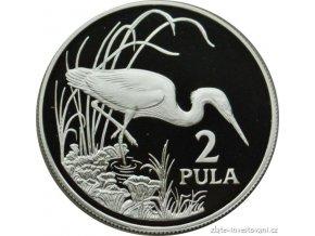 4028 stribrna mince volavka botswana 1986 1 oz
