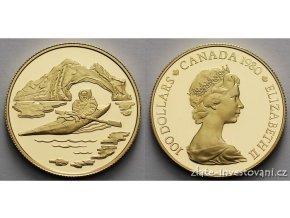 4043 zlata mince eskymak kanada 1980 proof 1 2 oz