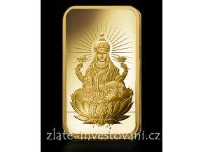 Investiční zlatý slitek Lakšmí-PAMP 1 Oz