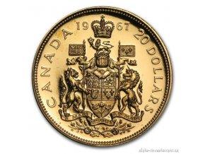 Investiční zlatá mince 100 let Konfederace-Kanada 1967 1/2 Oz