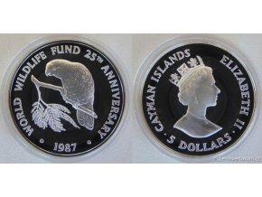 Stříbrná mince amazonský papoušek-Kajmanské ostrovy 1 Oz