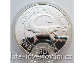 4094 stribrna mince iguana 1988 turks and caicos 1 oz