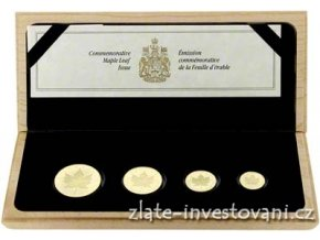 4097 investicni zlaty set maple leaf proof 4 mince