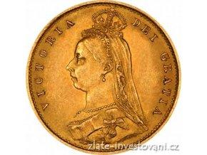4109 investicni zlata mince britsky pul sovereign victoria jubileum 1887 1893
