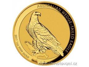 4118 zlata mince orel klinoocasy 2017 vysoky relief proof 1 oz