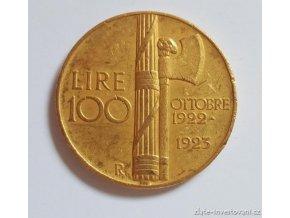 4145 zlata mince 100 lira vittorio emanuele iii 1922
