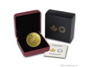 4151 2 zlata mince alfa vlk 2015 proof kanada 1 oz