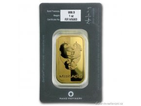 Investiční zlatý slitek Rand SA-Fata morgána 1 Oz