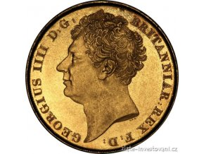 4172 zlata mince britsky double sovereign george iv