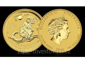 4196 investicni set zlatych minci lunarni serie rok opice 2016 proof