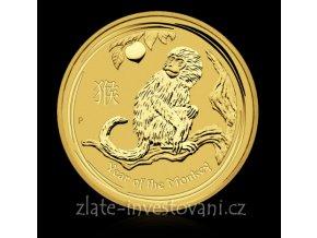 Investiční zlatá mince rok Opice 2016 1/4 Oz