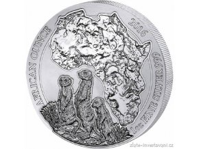 4274 investicni stribrna mince surikaty rwanda 2016 1 oz