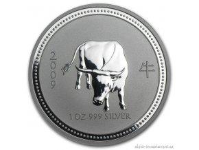Investiční stříbrná mince rok Buvola 2009 1 Oz