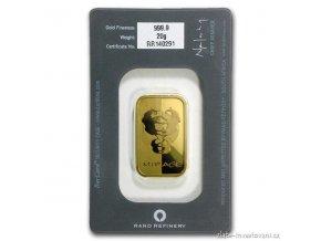 Investiční zlatý slitek Rand SA-Fata morgána 20g