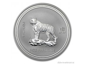 Investiční stříbrná mince rok tygra 2010 1 Oz