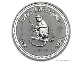 4292 investicni stribrna mince rok opice 2004 1 oz