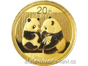 4301 investicni zlata mince cinska panda 2009 1 2 oz