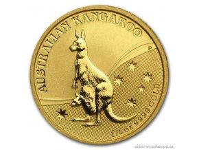 4307 investicni zlata mince australian kangaroo 2009 1 4 oz
