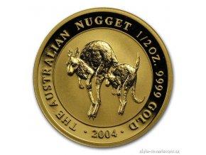 investicni zlata mince australian kangaroo 2003 1 2 oz