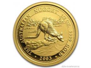 4313 investicni zlata mince australian kangaroo 2003 1 4 oz