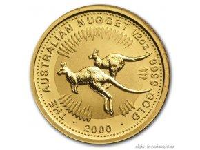 4316 investicni zlata mince australian kangaroo 2000 1 2 oz
