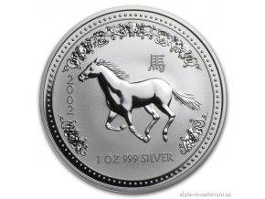 4328 investicni stribrna mince rok kone 2002 1 oz