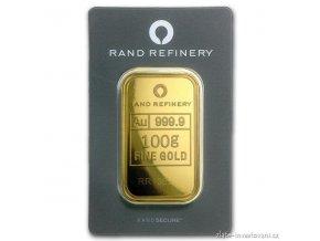 Investiční zlatý slitek Rand SA-Jižní Afrika 100g