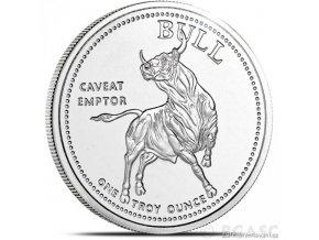 Stříbrná investiční mince Býk a medvěd-Texas 1 Oz