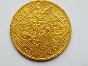 4382 zlaty dvoudukat 1928 jsem razen ceskeho kovu sv prokop