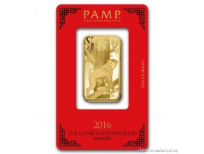 4394 investicni zlata cihla pamp rok opice 2016 1 oz