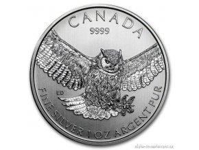 4403 investicni stribrna mince sova 2015 wild life serie 1 oz