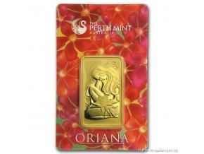 Investiční zlatý slitek Oriana -Austrálie Perth Mint 1 Oz