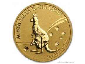 4421 investicni zlata mince australian kangaroo 2009 nugget 2 oz