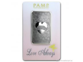 4430 investicni stribrna cihla love always pamp 1 oz