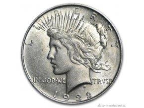 4433 stribrna mince americky dolar peace dollar