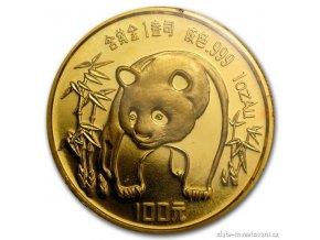 4439 investicni zlata mince cinska panda 1986 1 oz